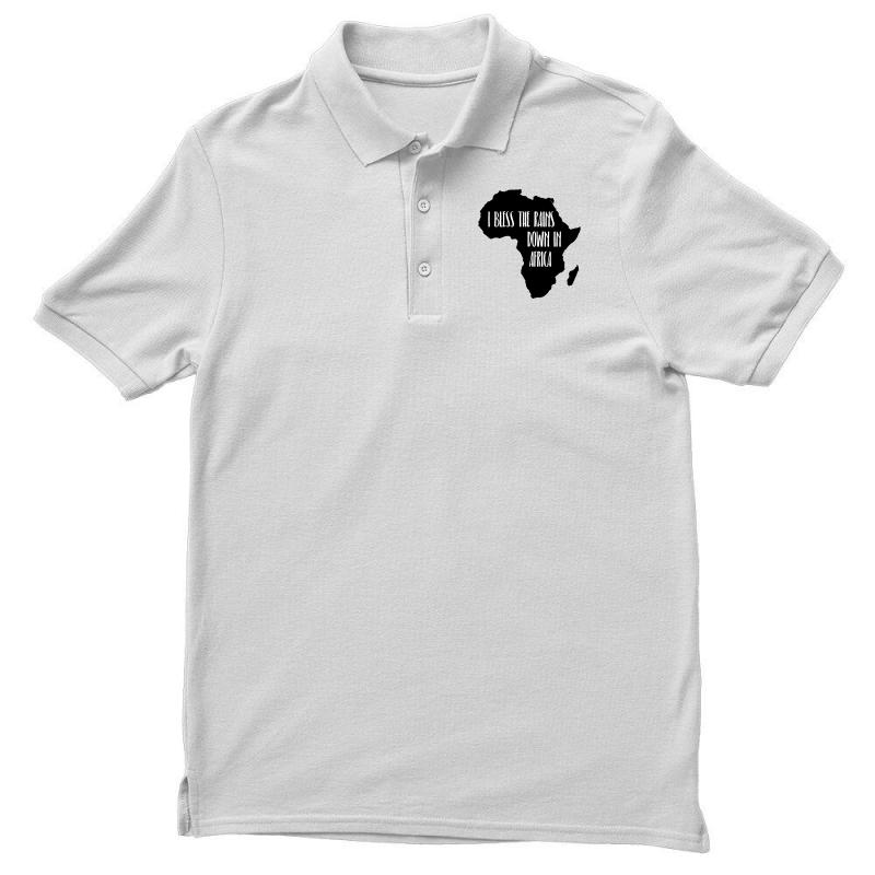 I Bless The Rains Down in Africa-1 Mens Short Sleeve Polo Shirt Regular Blouse Sport Tee