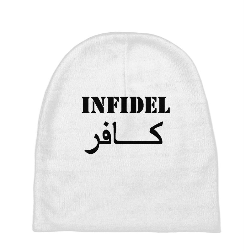 Infidel T Shirt Vintage Military Baby Beanies  By Artistshot