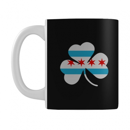 Irish Chicago Flag Shamrock Mug Designed By Tee Shop