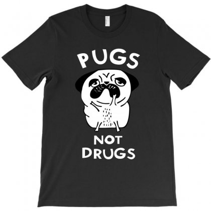 Pugs Not Drugs T-shirt Designed By Thecindeta