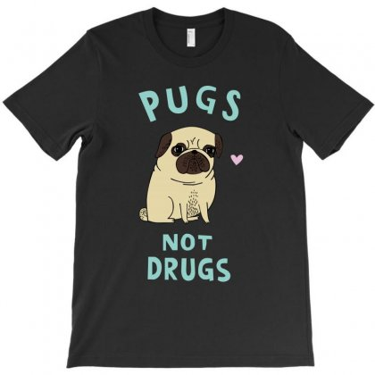 Cute Design Pugs Not Drugs T-shirt Designed By Thecindeta
