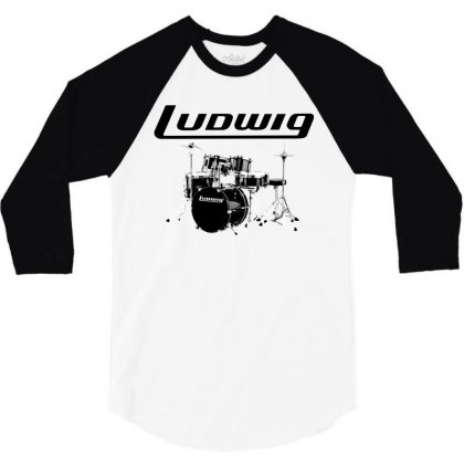Ludwig Drum 3/4 Sleeve Shirt Designed By Thecindeta