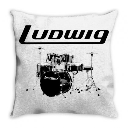 Ludwig Drum Throw Pillow Designed By Thecindeta
