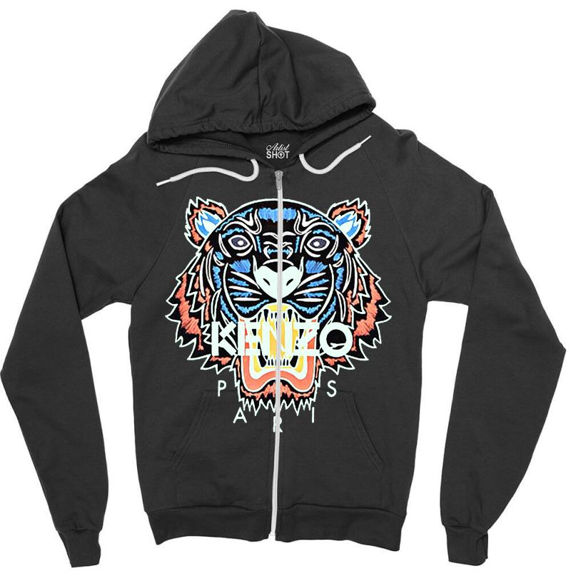 Custom Kenzo Paris Tiger Zipper Hoodie By Blqs Apparel - Artistshot a38ed09e7eed