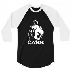 johnny cash guitar 3/4 Sleeve Shirt | Artistshot