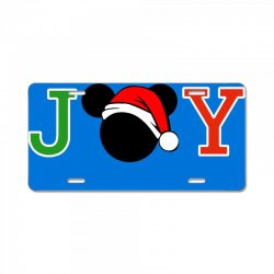 joy to the world of mickey License Plate | Artistshot