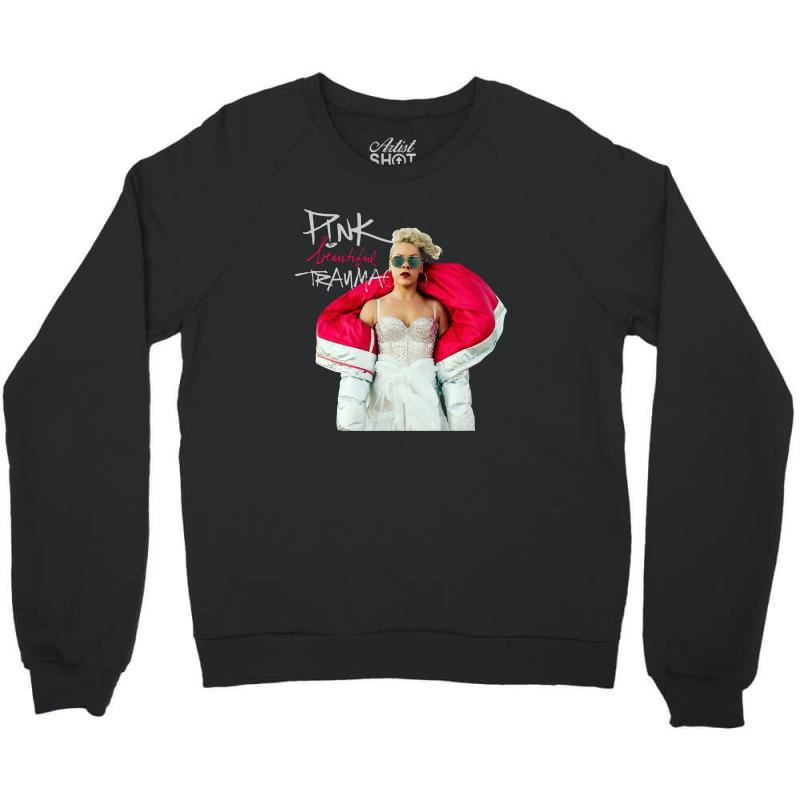 Pink Beautiful Trauma Crewneck Sweatshirt | Artistshot