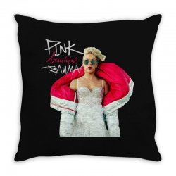 pink beautiful trauma Throw Pillow | Artistshot