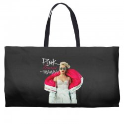 pink beautiful trauma Weekender Totes | Artistshot