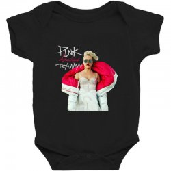 pink beautiful trauma Baby Bodysuit | Artistshot