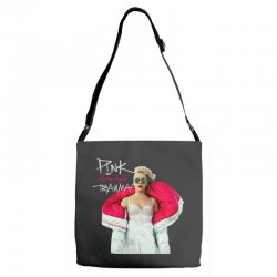 pink beautiful trauma Adjustable Strap Totes | Artistshot