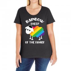 rainbow sheep of the family Ladies Curvy T-Shirt | Artistshot