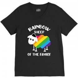 rainbow sheep of the family V-Neck Tee | Artistshot