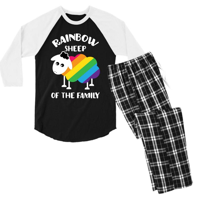 Rainbow Sheep Of The Family Men's 3/4 Sleeve Pajama Set | Artistshot