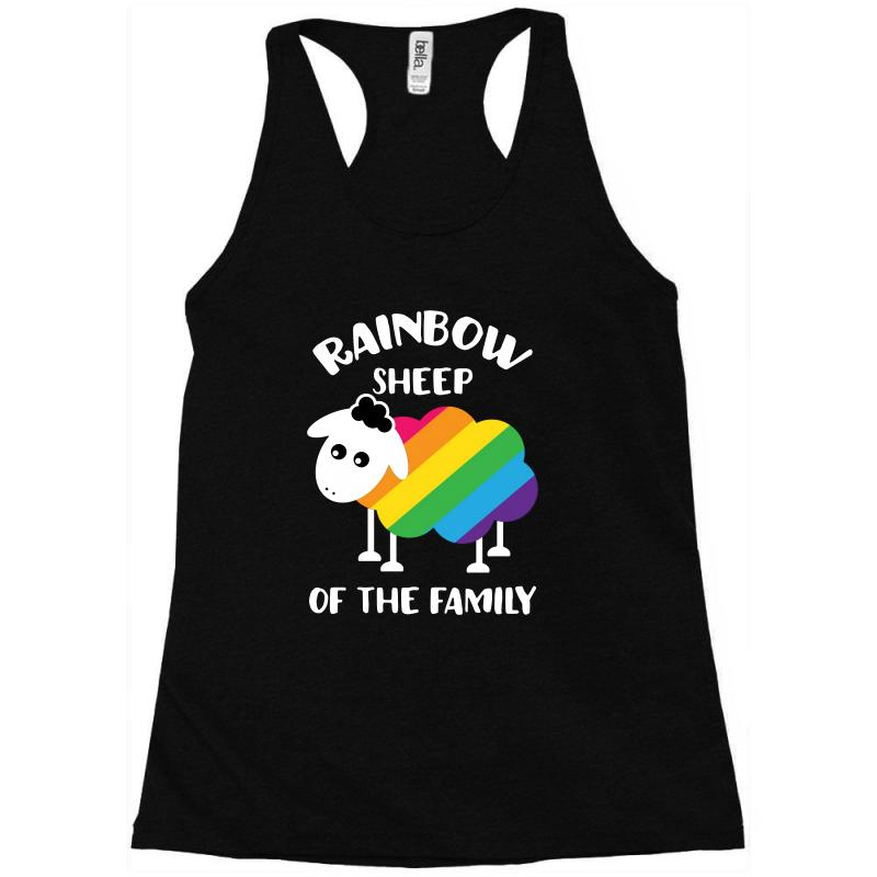 Rainbow Sheep Of The Family Racerback Tank | Artistshot