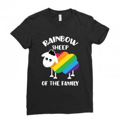 rainbow sheep of the family Ladies Fitted T-Shirt | Artistshot