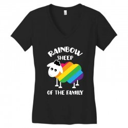 rainbow sheep of the family Women's V-Neck T-Shirt | Artistshot