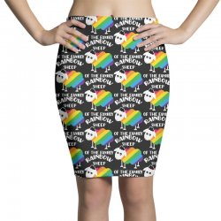 rainbow sheep of the family Pencil Skirts | Artistshot