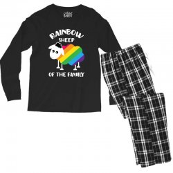 rainbow sheep of the family Men's Long Sleeve Pajama Set | Artistshot