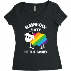 rainbow sheep of the family Women's Triblend Scoop T-shirt | Artistshot
