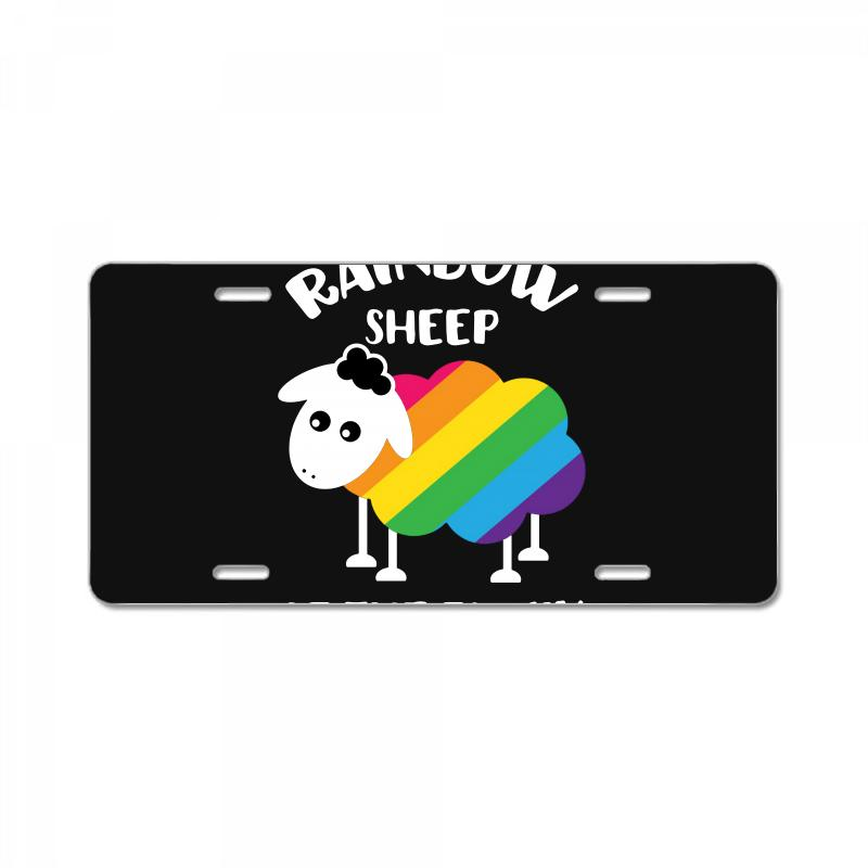 Rainbow Sheep Of The Family License Plate | Artistshot