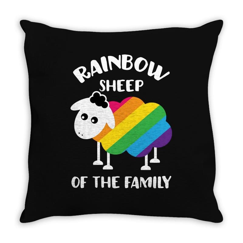 Rainbow Sheep Of The Family Throw Pillow | Artistshot