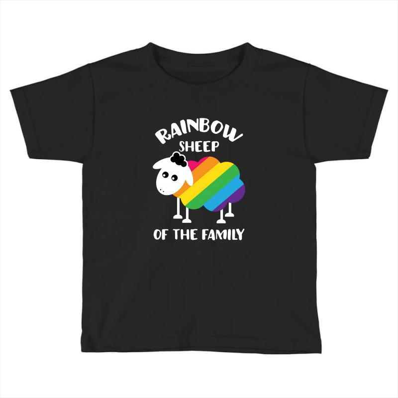 Rainbow Sheep Of The Family Toddler T-shirt | Artistshot