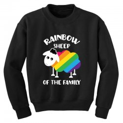 rainbow sheep of the family Youth Sweatshirt | Artistshot