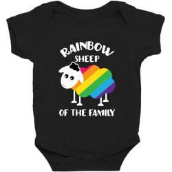 rainbow sheep of the family Baby Bodysuit | Artistshot