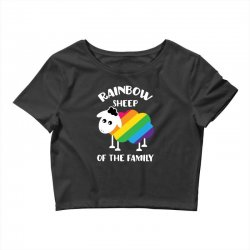 rainbow sheep of the family Crop Top | Artistshot