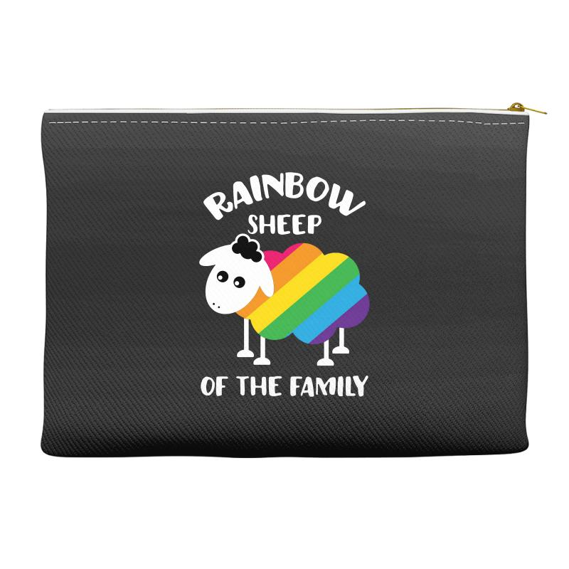 Rainbow Sheep Of The Family Accessory Pouches | Artistshot