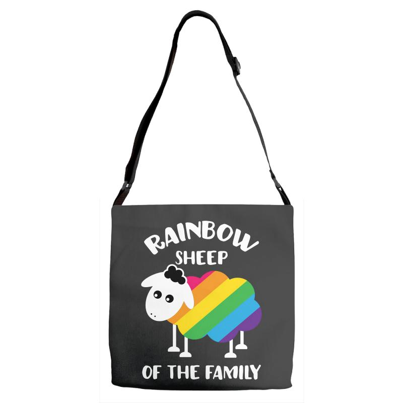 Rainbow Sheep Of The Family Adjustable Strap Totes | Artistshot