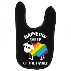 rainbow sheep of the family Baby Bibs | Artistshot