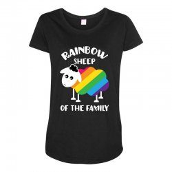 rainbow sheep of the family Maternity Scoop Neck T-shirt | Artistshot