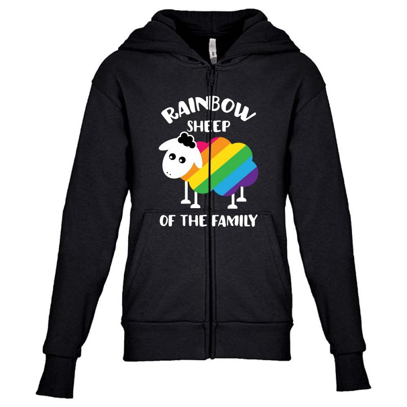 Rainbow Sheep Of The Family Youth Zipper Hoodie | Artistshot