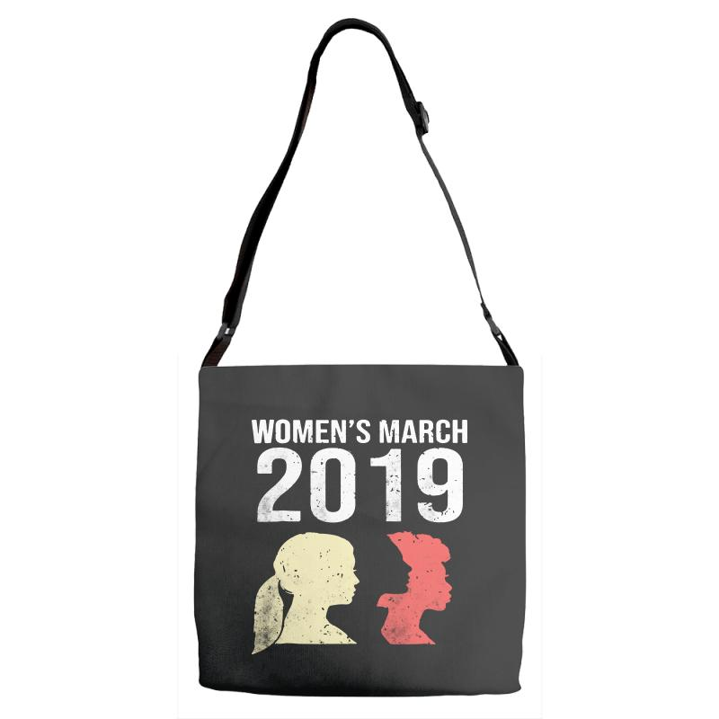 8a65e878f18d women s march 2019 awareness and gender equality Adjustable Strap Totes