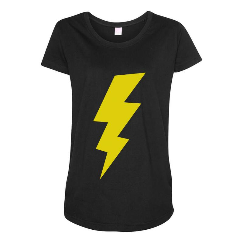5ed038a0163de5 lightening bolt t shirt geek t shirts vintage t shirts funny t shirts  Maternity Scoop Neck T-shirt