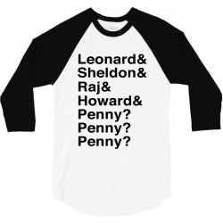 big bang theory helvetica names 3/4 Sleeve Shirt | Artistshot