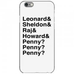 big bang theory helvetica names iPhone 6/6s Case | Artistshot
