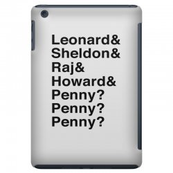 big bang theory helvetica names iPad Mini Case | Artistshot