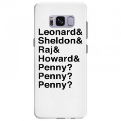big bang theory helvetica names Samsung Galaxy S8 Plus Case | Artistshot