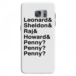 big bang theory helvetica names Samsung Galaxy S7 Case | Artistshot