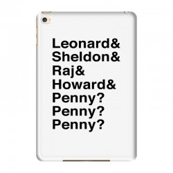 big bang theory helvetica names iPad Mini 4 Case | Artistshot