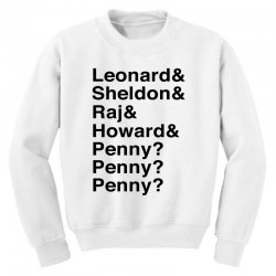big bang theory helvetica names Youth Sweatshirt | Artistshot