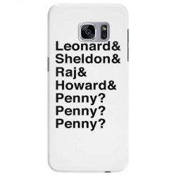 big bang theory helvetica names Samsung Galaxy S7 Edge Case | Artistshot