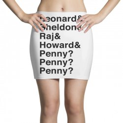 big bang theory helvetica names Mini Skirts | Artistshot