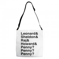 big bang theory helvetica names Adjustable Strap Totes | Artistshot