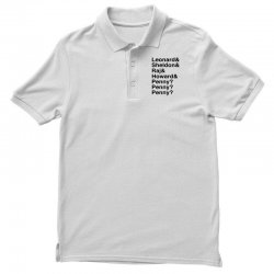 big bang theory helvetica names Polo Shirt | Artistshot