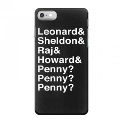 big bang theory helvetica names iPhone 7 Case | Artistshot