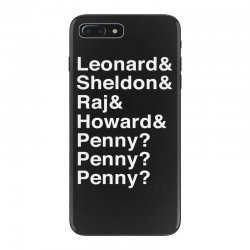 big bang theory helvetica names iPhone 7 Plus Case | Artistshot
